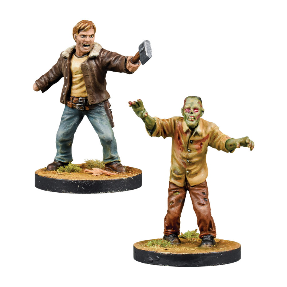 The Walking Dead Rick, Alexandria Leader Booster From Mantic Games