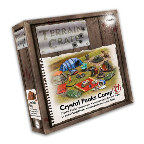 TerrainCrate Crystal Peaks Camp box Mantic Games