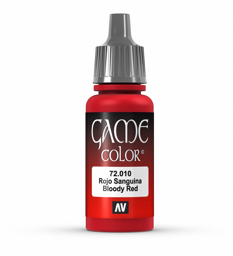Co color painting games - Bloody Red Vallejo Game Color Model Paint