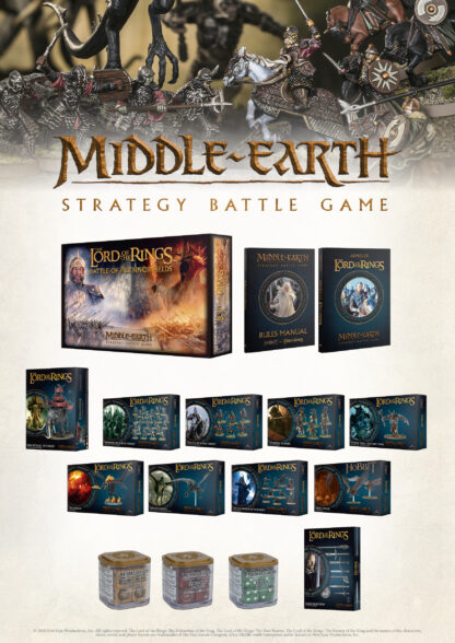 Games Workshop's Lord Of The Rings / Middle Earth Strategy Battle Game Range